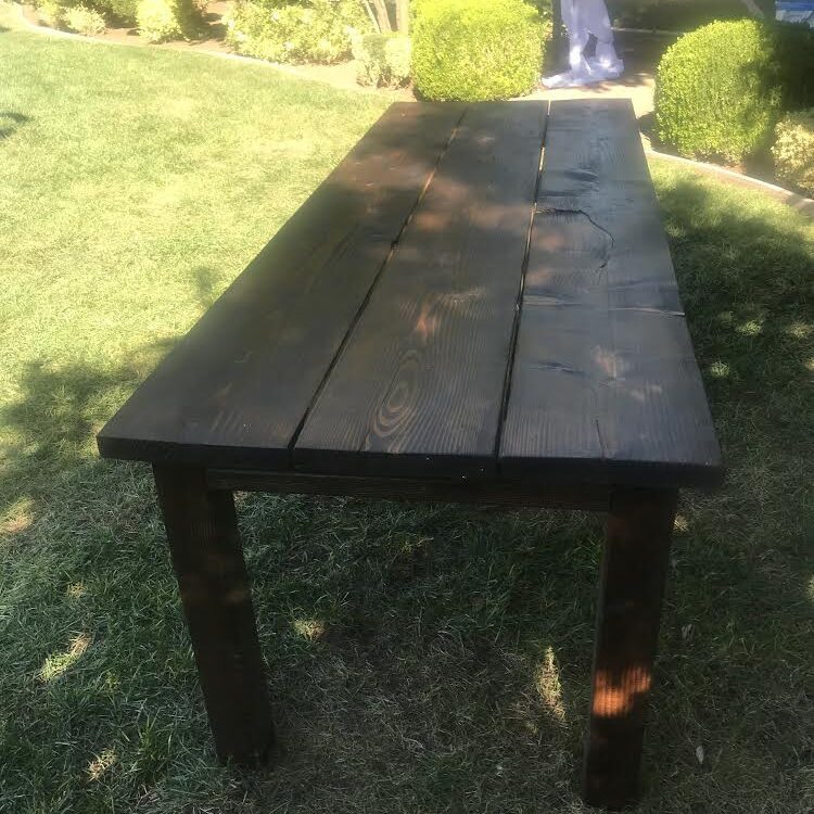 Eight foot table
